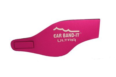 Pink size Large Ear Band-It Ultra with pair of Floating Putty Buddies Ear Plugs