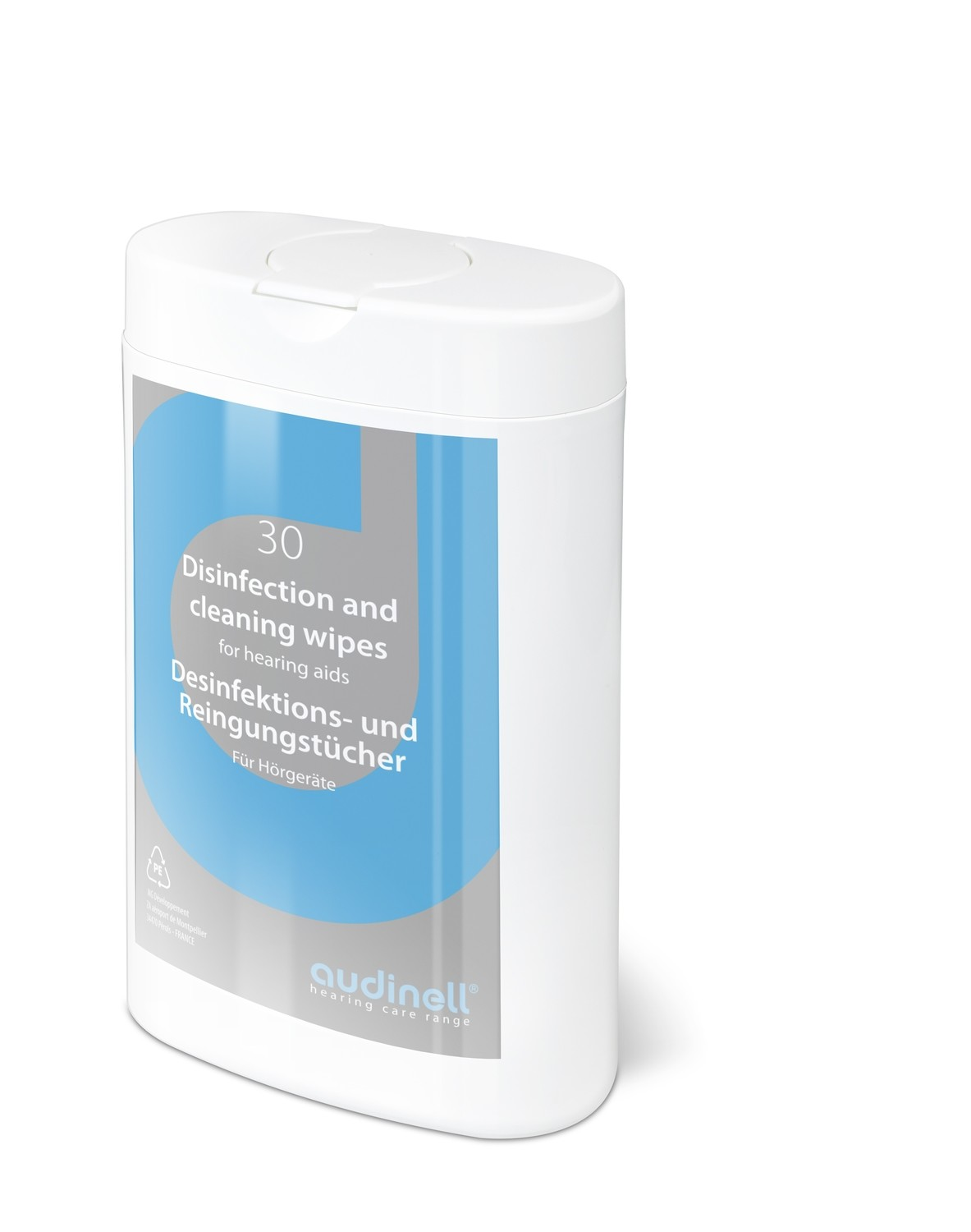 Hearing Aid Cleaning Wipes - 30 count container