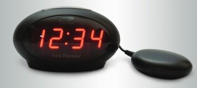Sonic Traveler Full function travel alarm with bed vibration & USB port