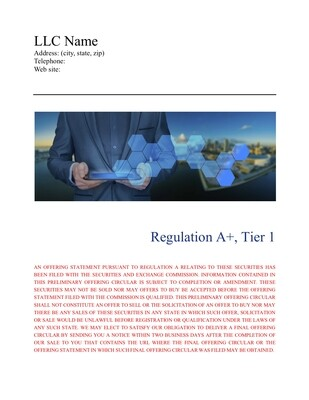LLC Form 1-A, Tier 1