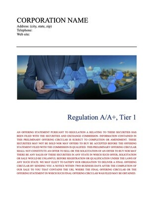 Corporate Form 1-A Tier 1