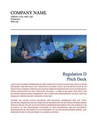Corporate Regulation D Pitch Deck