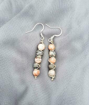 Pink Zebra Earrings