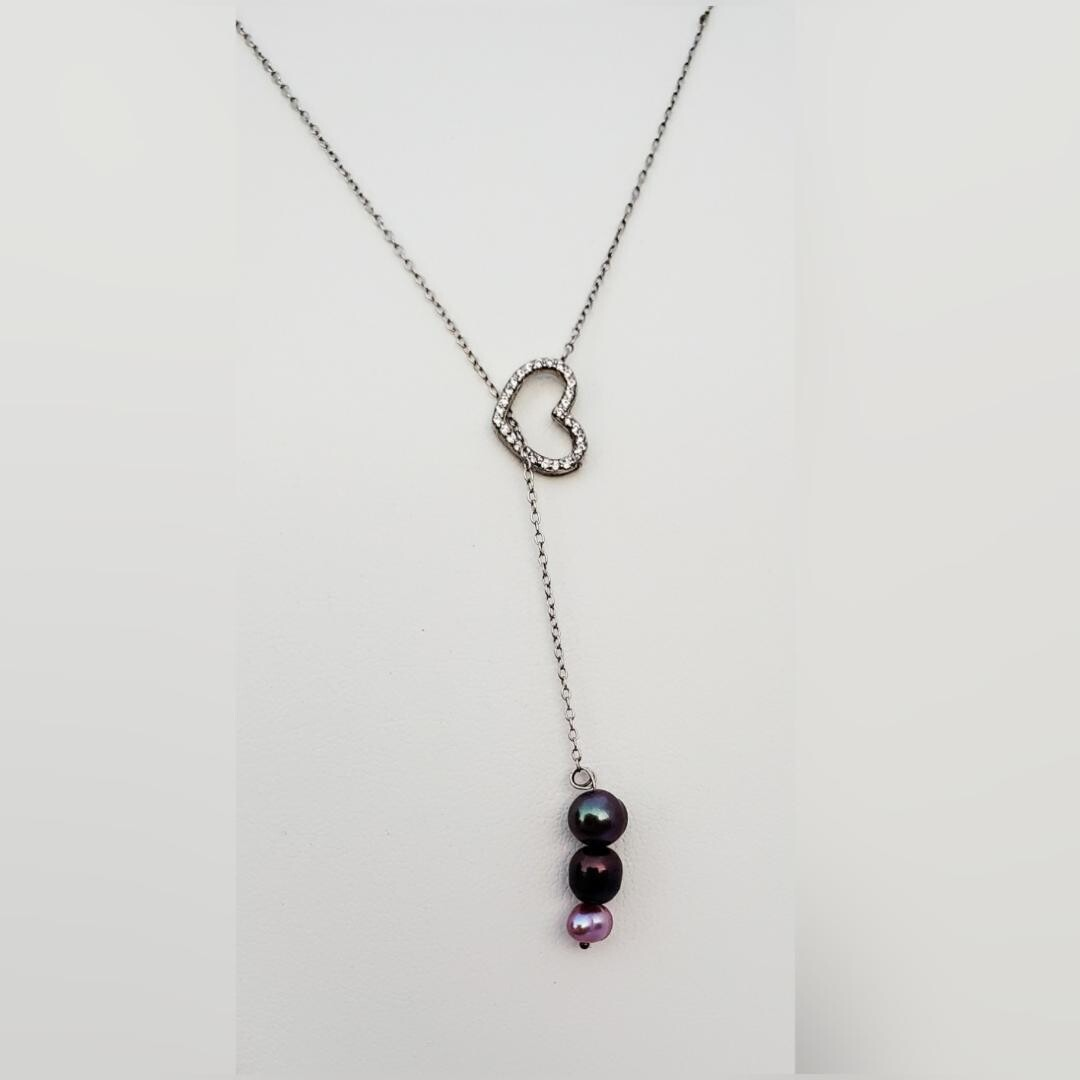 Pearls and heart Necklace