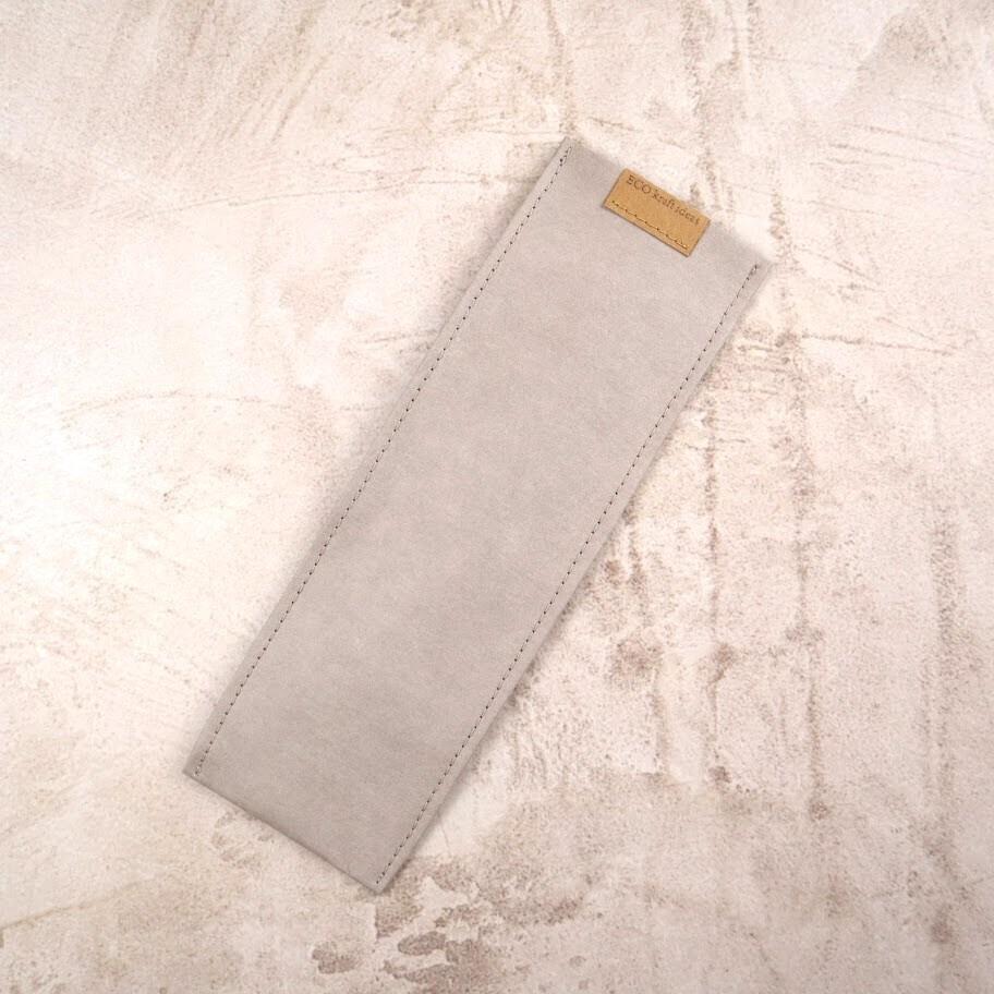 Чехол из текстильного крафта для зубных щеток и многоразовых приборов M 24,5*8-9 см.
