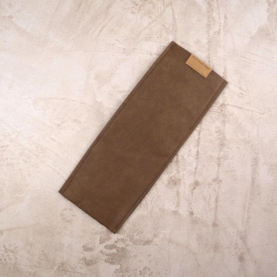 Чехол из текстильного крафта для зубных щеток и многоразовых приборов L 24,5*9-10 см.