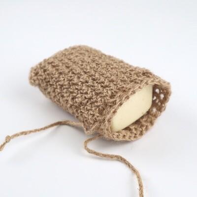 Мочалка-мешочек для мыла из джута