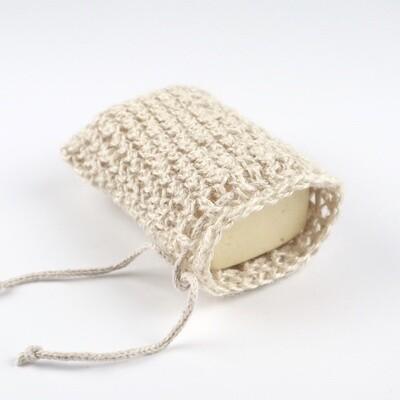 Мочалка-мешочек для мыла из мягкого джута