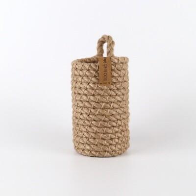 Маленькая подвесная корзина из джута