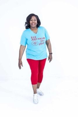 Turquoise R.I.P just killed the GYM Tee (Women)