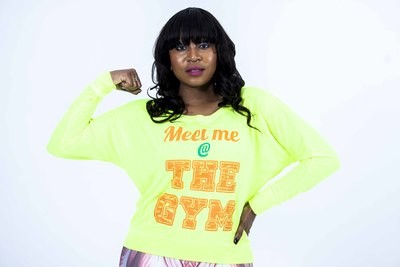 Longsleeve Neon Meet me at the GYM shirt