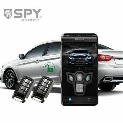 SPY one way car security alarm remote universal bluetooth smart car alarm system