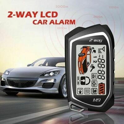 SPY High-end 2 (Two) Way Security car Alarm System, Big LCD Remote