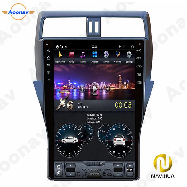 13.6 inch Navi toyota Prado android car stereo tesla radio(Screen Dashboard)
