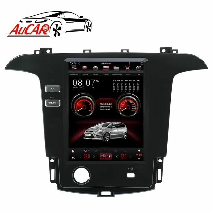 Witson Vertical full dashboard Tesla Style android radio with AC and steering wheel control.
