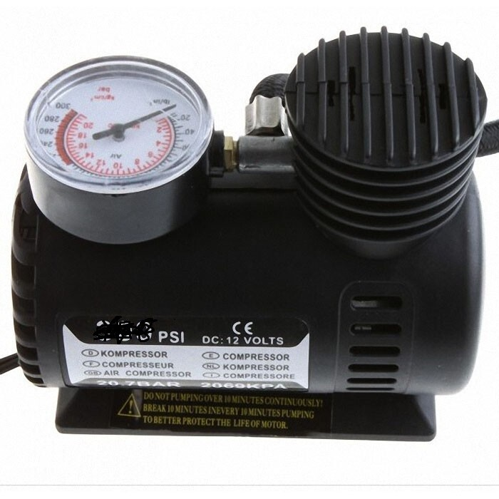 Mini Car Auto Electric Air Compressor Tire Inflator Pump 250 psi