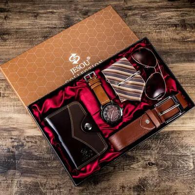 Brown-black Background Luxury Men Gift Set