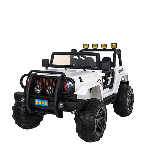 Jeep children12v kids electric ride on toy car supports remote control / manual driving - White