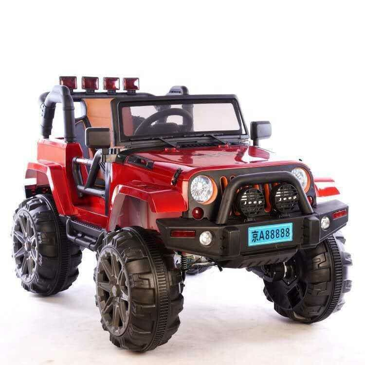 Jeep children12v kids electric ride on toy car supports remote control / manual driving - Red