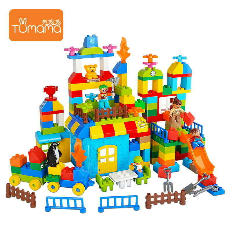 Building Blocks Funnel Slide Blocks Diy Bricks Toys