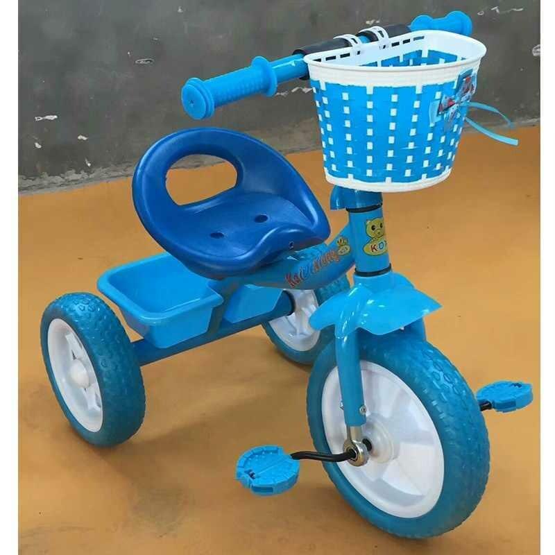 Best quality plastic tricycle kids bike (blue)