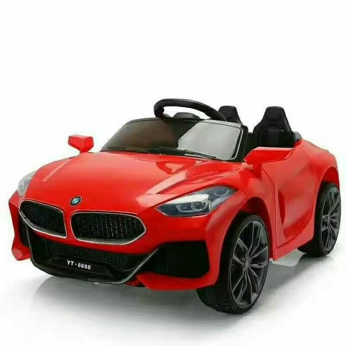 Bmw kids electric ride on toy car supports remote control / manual driving (Red)