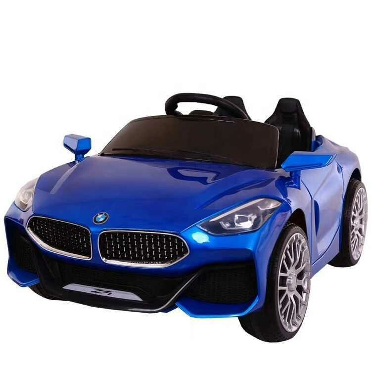 Bmw kids electric ride on toy car with remote control and manual driving modes (Blue)