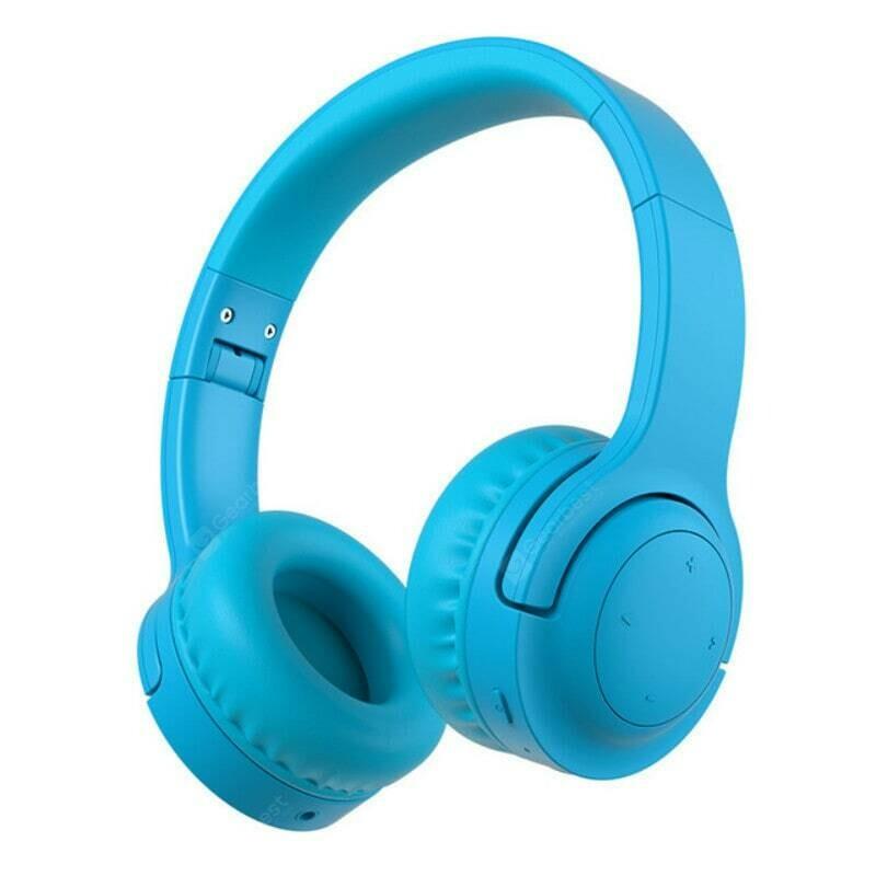 Picun E3 On-ear 93db Volume Limit Ear Protection Flexible Headband Wireless Bluetooth Headphone for Kids (Blue)
