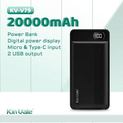Kin Vale smart power bank 20000 mah (black)
