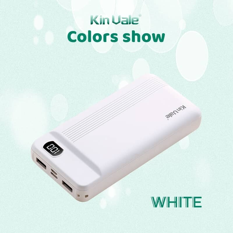 Kin Vale smart power bank 20000 mah (white)