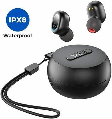 Tribit Flybuds 1 IPX8 waterproof earphone sports bluetooth earphone with wireless charging case