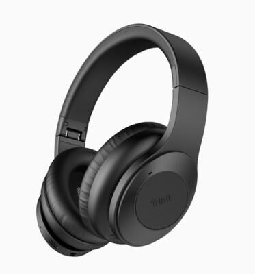 Tribit QuietPlus 5.0 Bluetooth Headphones with MIC 30 Hrs Playtime CVC8.0 Hi-Fi Sound Type-C Foldable Wireless Headphones