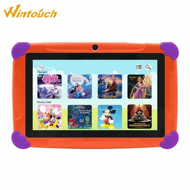 Wintouch New Arrival 4GB 8GB Toy Children Kids Android Rugged Learning Tablet 7inch - Orange