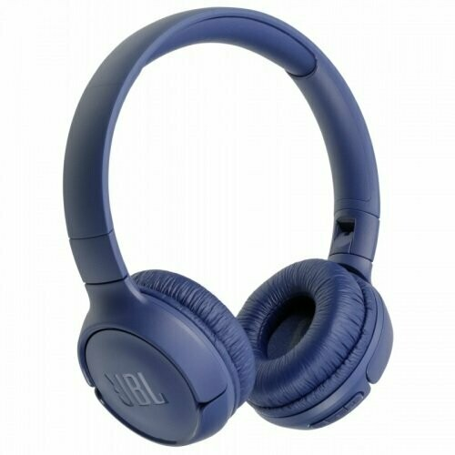 JBL Tune 500BT Wireless On-Ear Headphones with Voice Assistant (Blue)