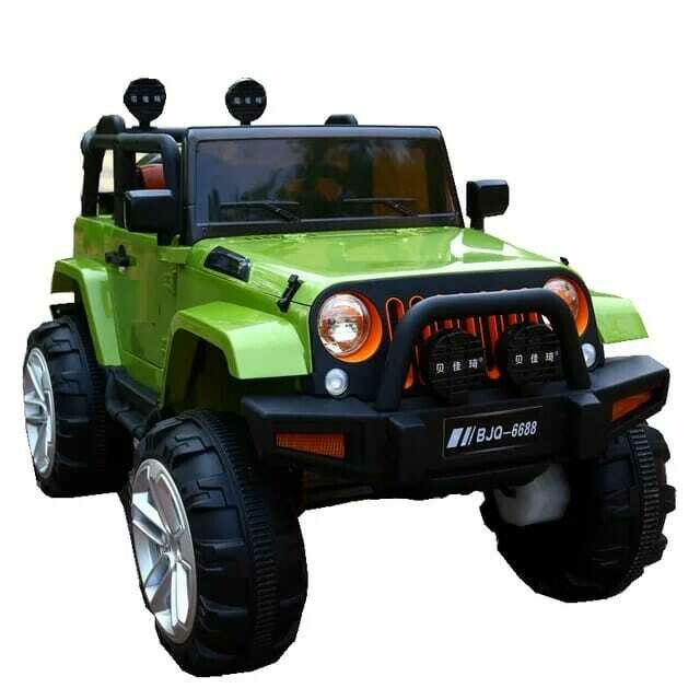 Jeep children12v kids electric ride on toy car supports remote control / manual driving - Green