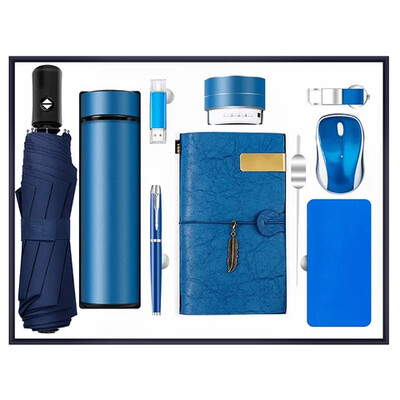 High end gift set corporate luxury gift-Blue