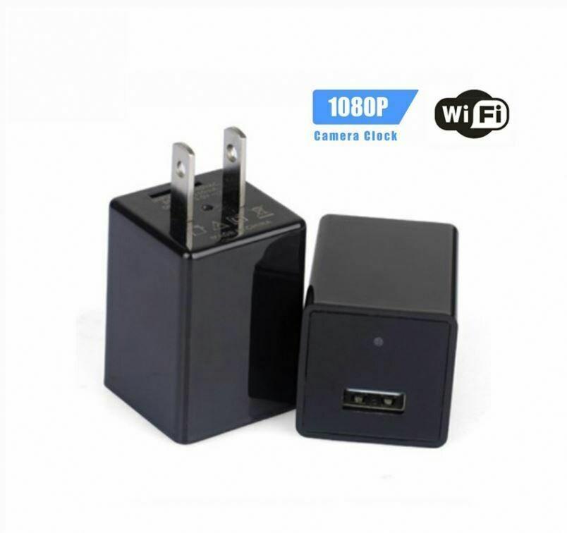 Hidden wifi video home charger wireless surveillance camera