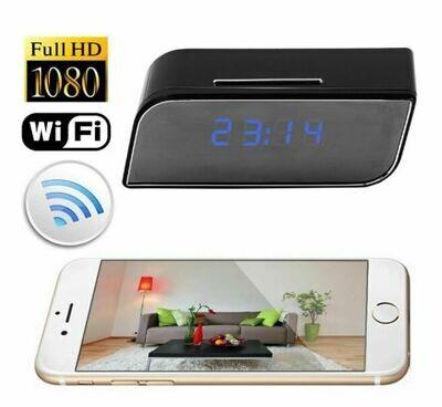 WiFi Mini Camera Alarm Clock Camera with Motion Activated Video Recording