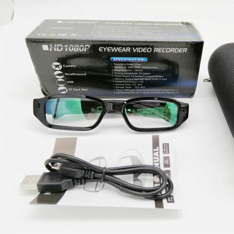HD 1080P Mini Wireless Hidden Camera Glasses