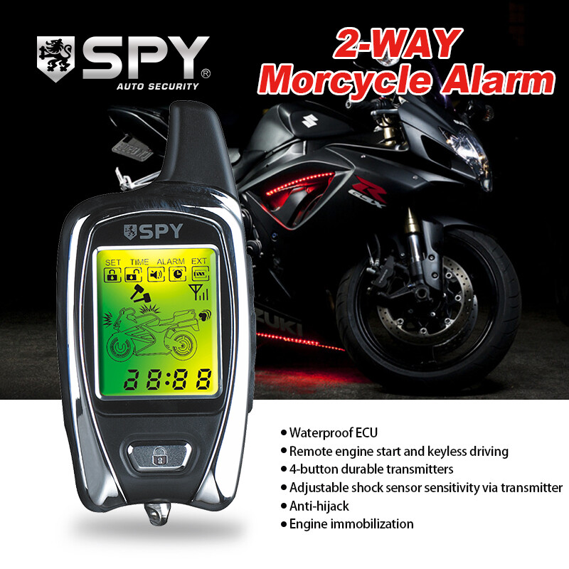 SPY 2-way remote engine starter two way motorcycle alarm system