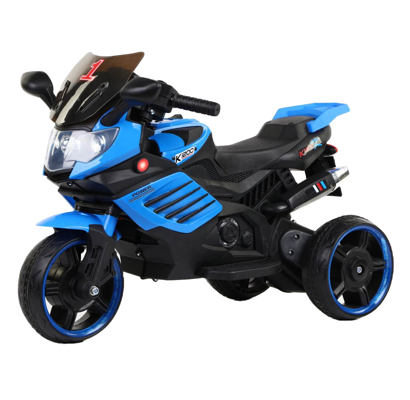 Baby ride on toy musical light up 6V mini motorcycle  electric toy car with music - Blue