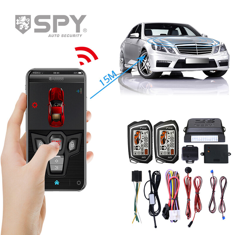 SPY universal Bt app one way remote control passive keys smart PKE auto security car alarm system