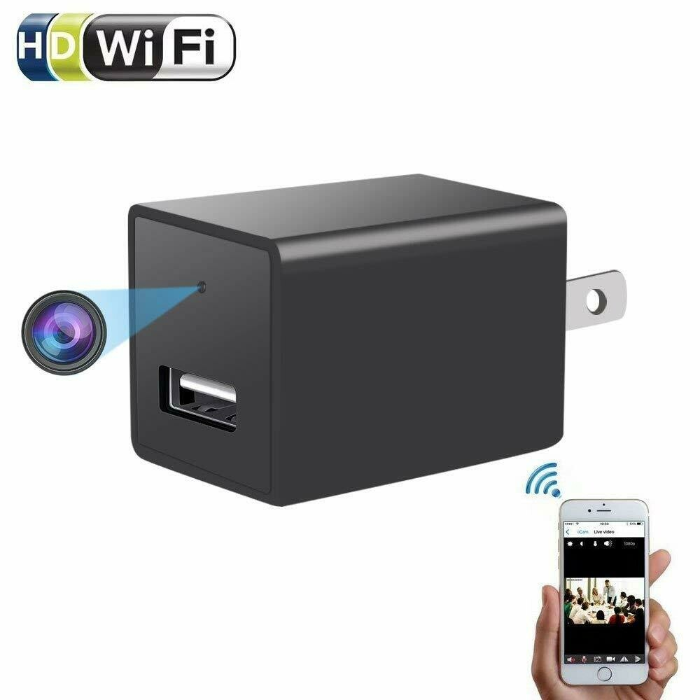 1080P Spy Camera USB Wall Charger For Smart Phone AC Adapter Power Charging With Wifi Mini Hidden Video Cam