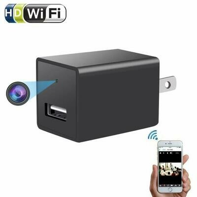 1080P Camera USB Wall Charger For Smart Phone AC Adapter Power Charging With Wifi Mini security Video Cam