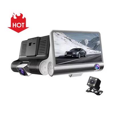 Simultaneous recording Three Cameras 4inch 3 Lens Car Dash Cam