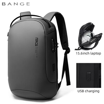 USB Backpack For Laptop multifunction High Quality Sleek USB Charging Waterproof Backpack Men Gift- Grey