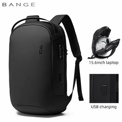 USB Backpack For Laptop multifunction High Quality Sleek USB Charging Waterproof Backpack Men Gift- Black
