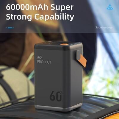 AC Power Bank 50000 mAh/60000 mAh Backup Battery - Grey