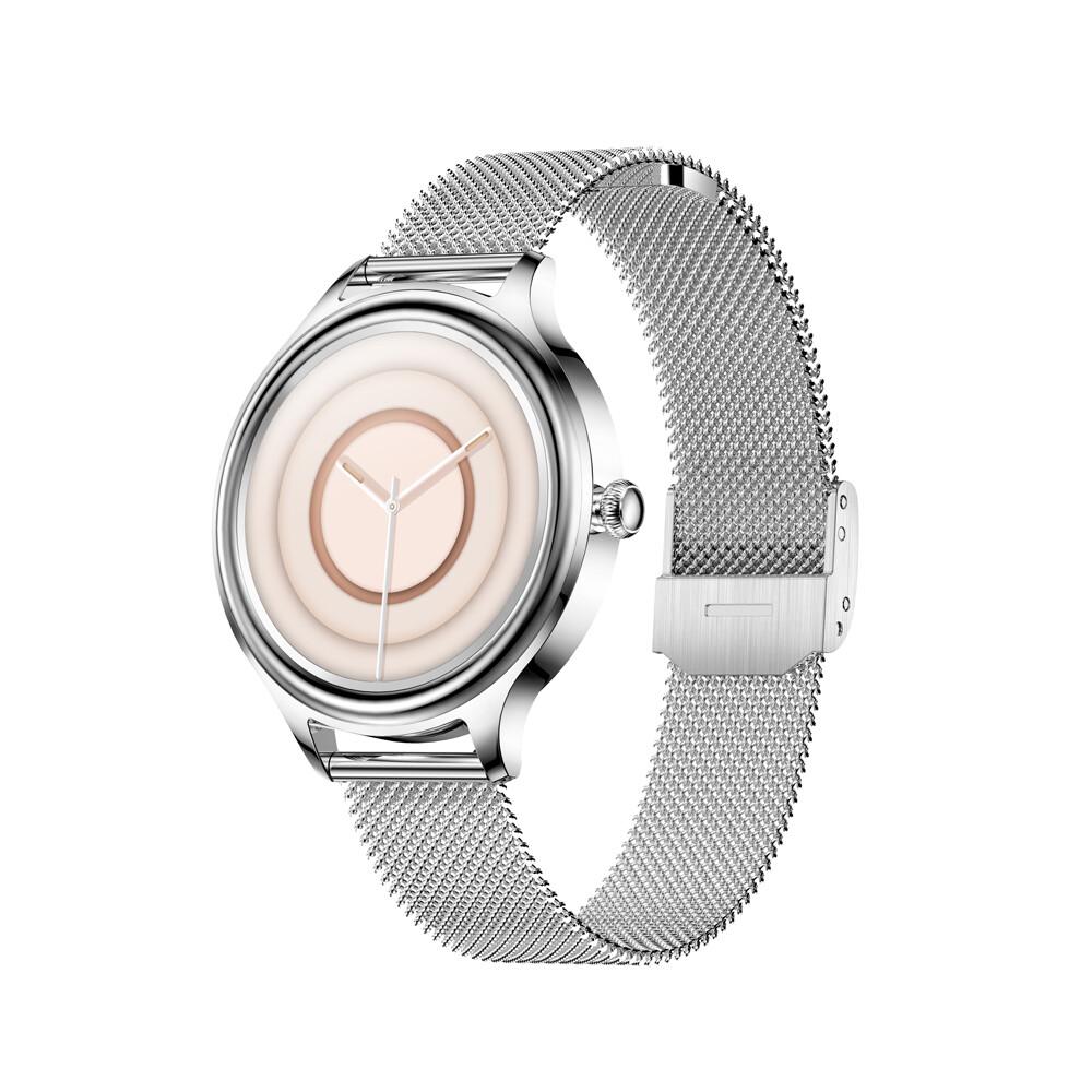 KMO5 Trendy Smart Watch for Women (Silver)