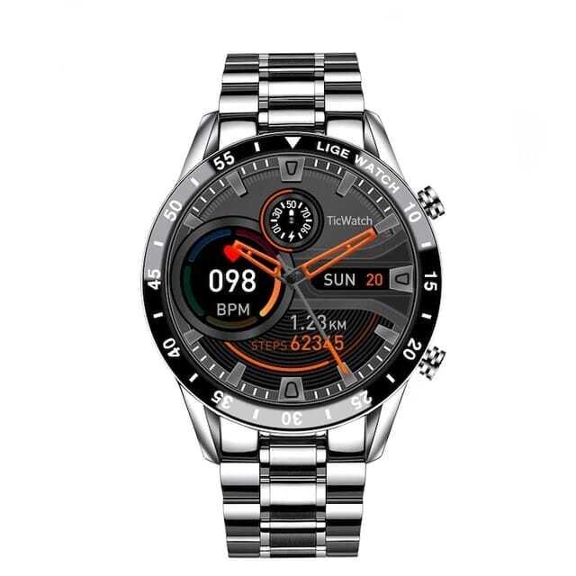 1.3 inch high-definition round screen Lige-M8 smartwatch - Silver